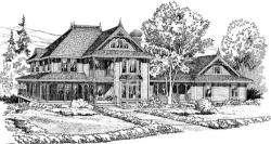 Victorian Style Home Design Plan: 46-219