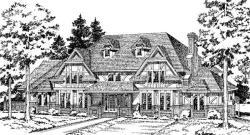 Tudor Style House Plans Plan: 46-235