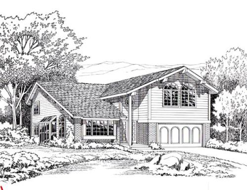 Traditional Style Home Design Plan: 46-253