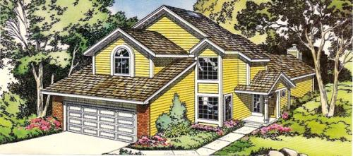Traditional Style Home Design Plan: 46-258
