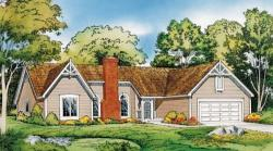 Traditional Style Home Design Plan: 46-261