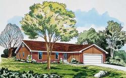 Ranch Style Home Design Plan: 46-265