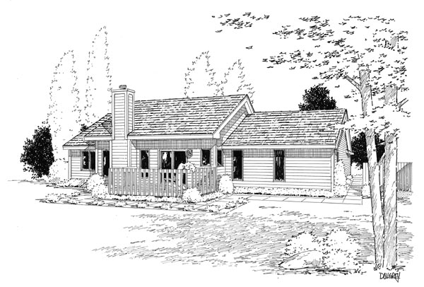 Rear Elevation Plan: 46-277