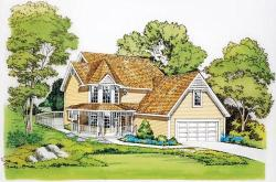 Victorian Style Home Design Plan: 46-283