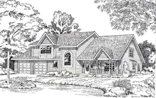 Country Style Floor Plans Plan: 46-287
