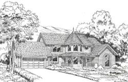 Country Style Home Design Plan: 46-288