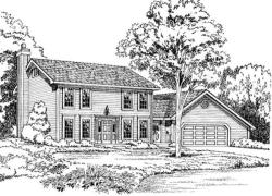 Colonial Style Floor Plans Plan: 46-291