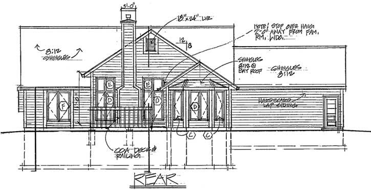 Rear Elevation Plan: 46-294