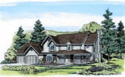 Country Style Home Design Plan: 46-296