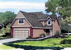Traditional Style Home Design Plan: 46-299