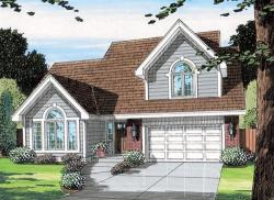 Traditional Style Home Design Plan: 46-300