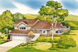 Traditional Style Home Design Plan: 46-307