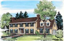 Colonial Style Floor Plans Plan: 46-308