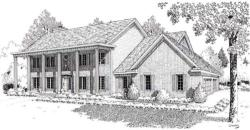 Southern-Colonial Style House Plans Plan: 46-310