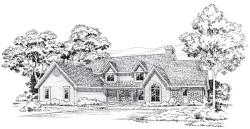 Country Style Home Design Plan: 46-312