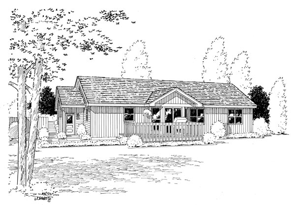 Rear Elevation Plan: 46-313