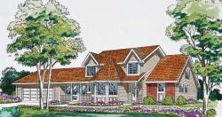 Country Style Home Design Plan: 46-314