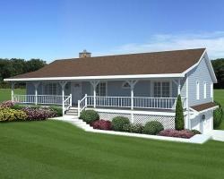 Country Style Floor Plans Plan: 46-337