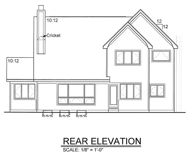 Rear Elevation Plan: 46-356