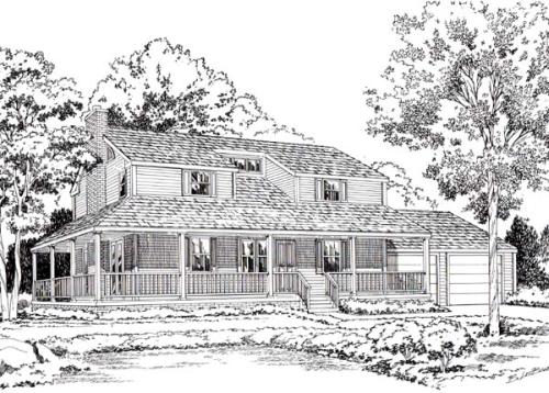 Country Style Floor Plans Plan: 46-362