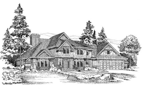 Tudor Style House Plans Plan: 46-367