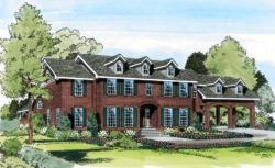 Southern-Colonial Style House Plans Plan: 46-381
