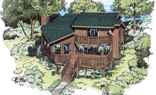 Contemporary Style Home Design Plan: 46-385