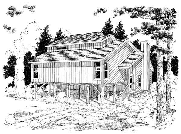 Rear Elevation Plan: 46-385