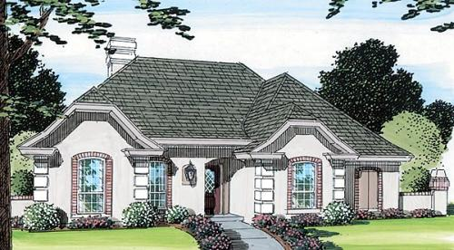 Mediterranean Style House Plans Plan: 46-391