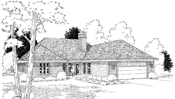 Rear Elevation Plan: 46-391