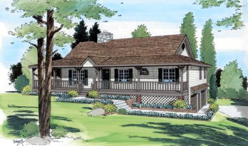Traditional Style Home Design Plan: 46-402