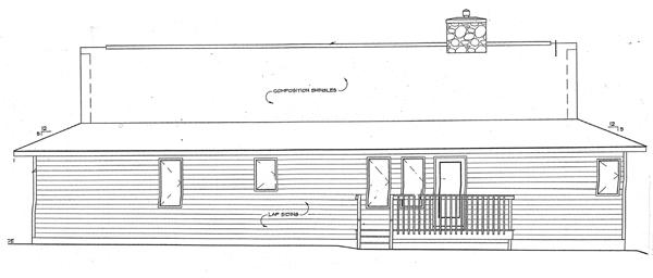 Rear Elevation Plan: 46-402