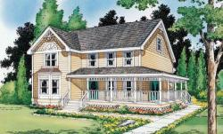 Country Style Home Design Plan: 46-421