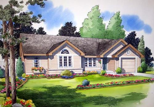 Traditional Style Floor Plans Plan: 46-422