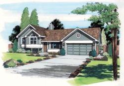 Traditional Style Home Design Plan: 46-425