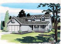 Country Style Home Design Plan: 46-435