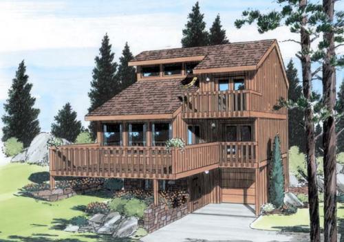 Contemporary Style Home Design Plan: 46-436