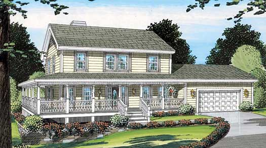 Country Style House Plans Plan: 46-442