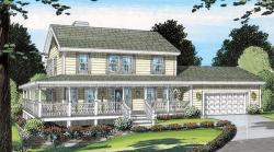 Country Style Floor Plans Plan: 46-442