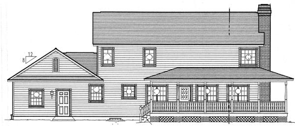 Rear Elevation Plan: 46-445