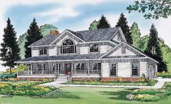 Traditional Style Home Design Plan: 46-445