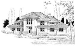 Contemporary Style Home Design Plan: 46-460