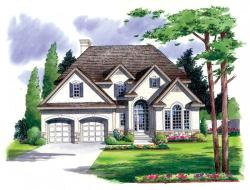 Traditional Style Home Design Plan: 46-487