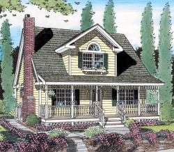 Country Style Home Design Plan: 46-504