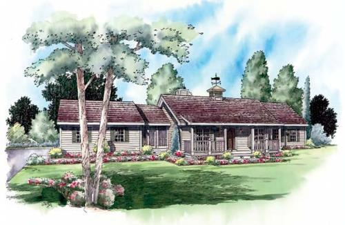Country Style House Plans Plan: 46-506
