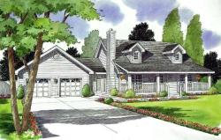 Country Style Home Design Plan: 46-509