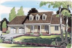 Southern Style Home Design Plan: 46-516