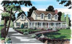 Country Style Home Design Plan: 46-530
