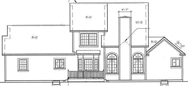 Rear Elevation Plan: 46-532