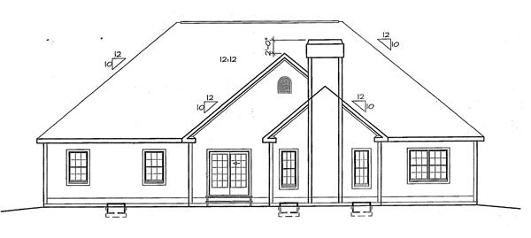 Rear Elevation Plan: 46-543